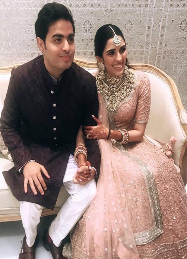Shloka Mehta and Akash Ambani