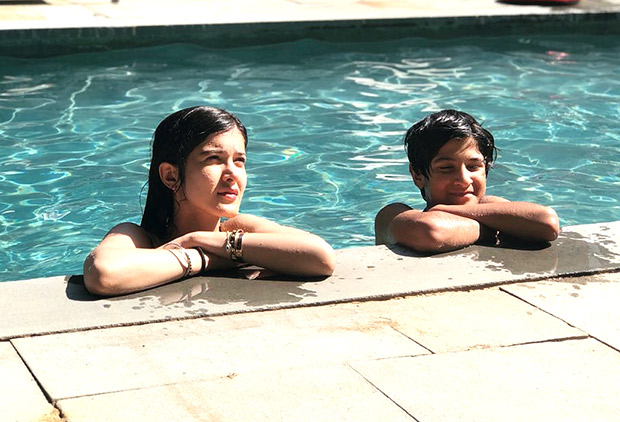 After Suhana, BFF Shanaya Kapoor posts a picture chilling in a pool with her bro