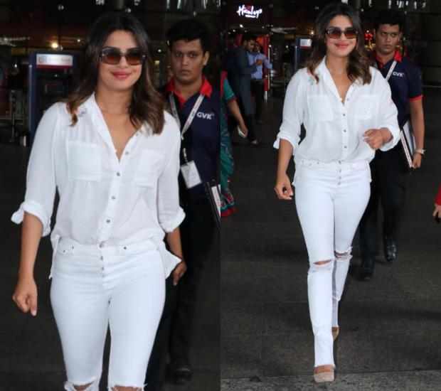 Airport Style - Priyanka Chopra