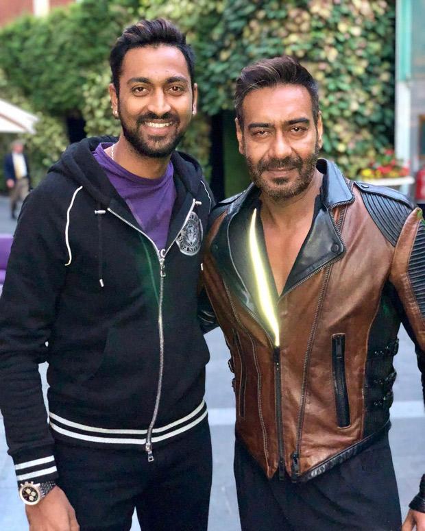 Ajay Devgn meets his doppelganger Indian Cricketer Krunal Pandya