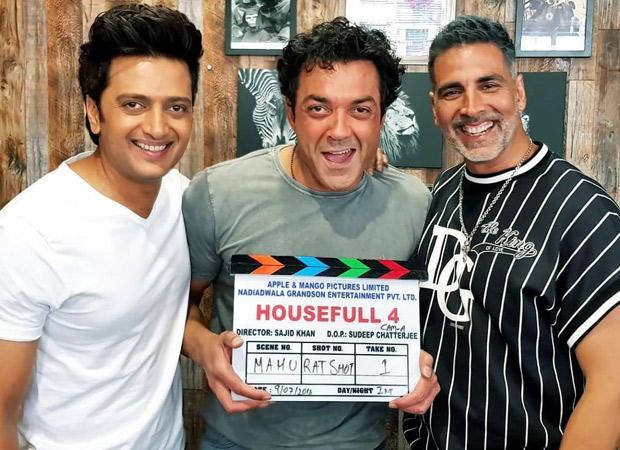 Akshay Kumar, Bobby Deol and Riteish Deshmukh ready to tickle your funny bones; begin shooting for Housefull 4
