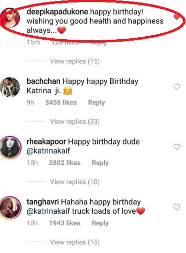 Deepika Padukone SHOCKS the internet with her lovey-dovey birthday wish for Katrina Kaif