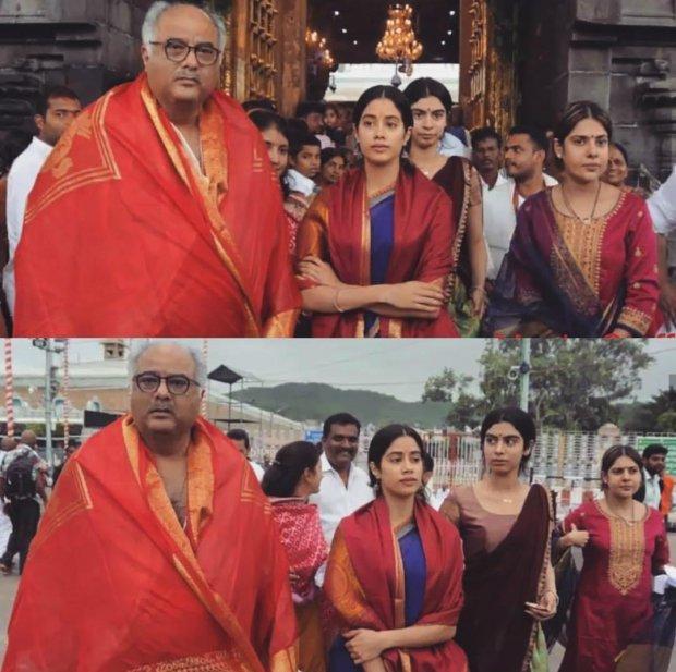 Janhvi Kapoor follows Sridevi's tradition, visits Tirupati with Boney Kapoor before Dhadak release