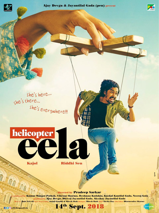 Kajol's comeback film is titled Helicopter Eela and here's the FIRST poster of the film