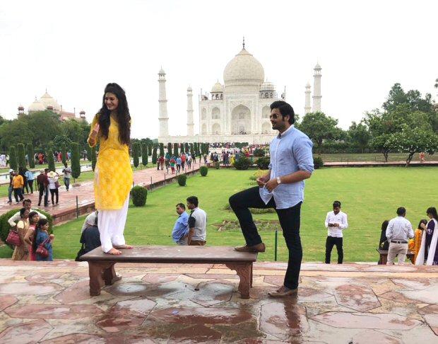 Prasthaanam pair Ali Fazal and Amyra Dastur shoot a romantic song at Taj Mahal