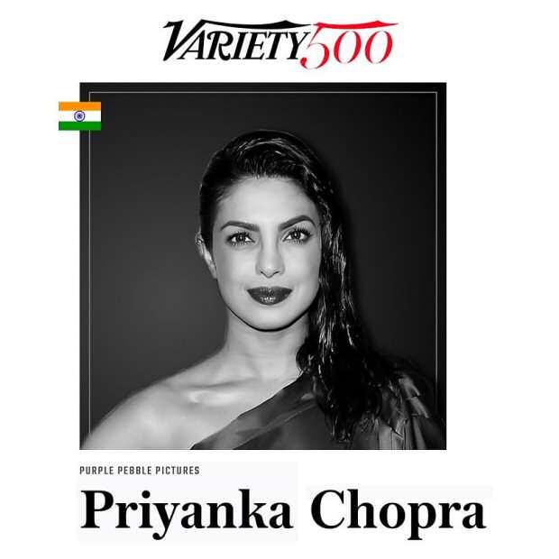 Priyanka Chopra is thankful for being featured amongst 500 influential leaders in Variety