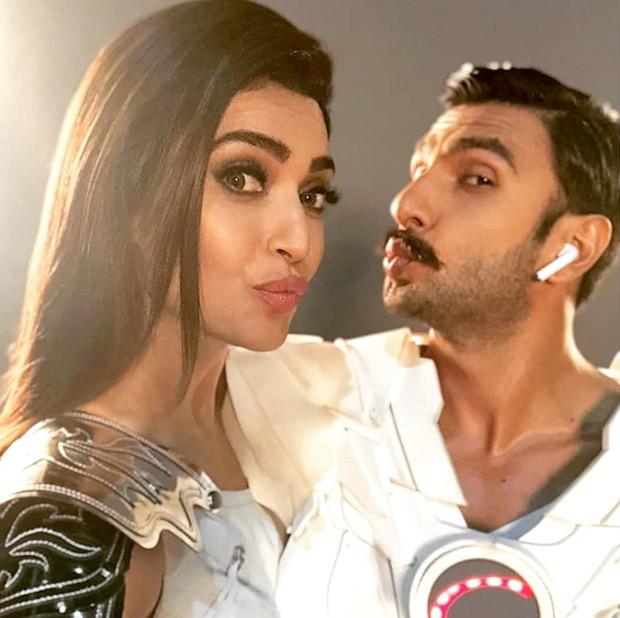 Ranveer Singh and Sanju actress Karishma Tanna sport futuristic look for a commercial shoot