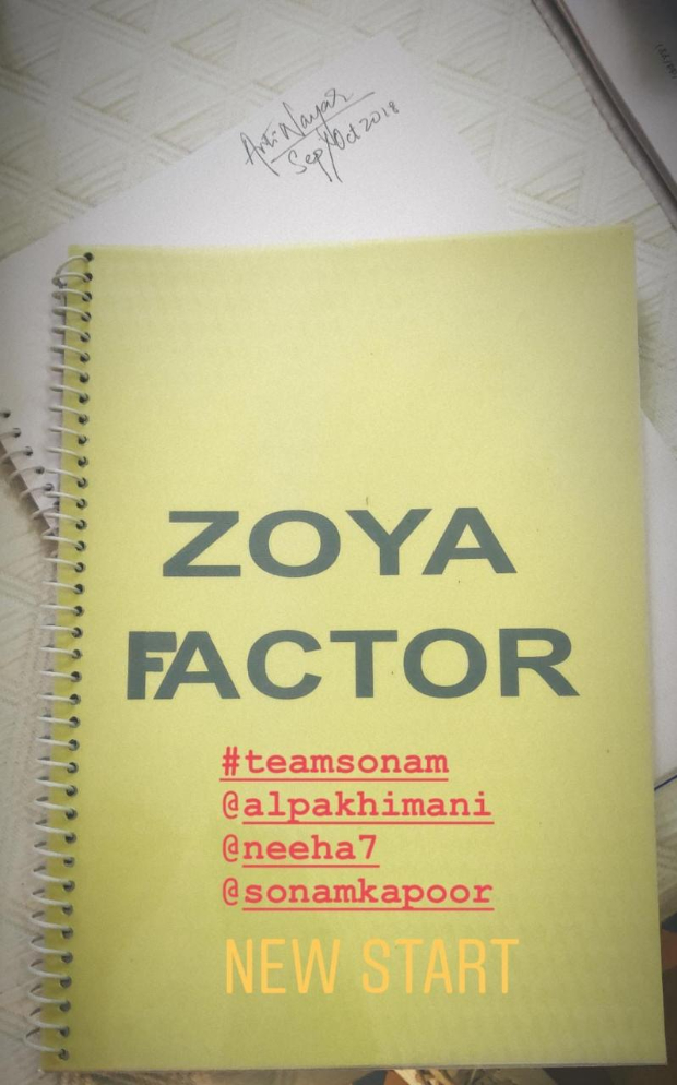 The Zoya Factor goes on floor with Sonam Kapoor, Sanjay Kapoor and Sikander Kher