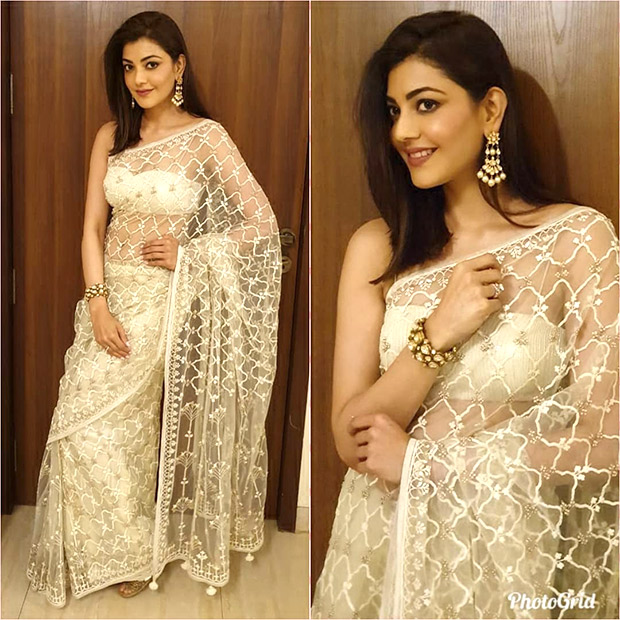 Kajal Aggarwal in Anita Dongre for an event (1)