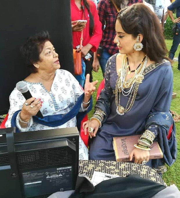 Manikarnika - The Queen of Jhansi Kangana Ranaut shoots for romantic song with Jisshu Sengupta and choreographer Saroj Khan [see pic]