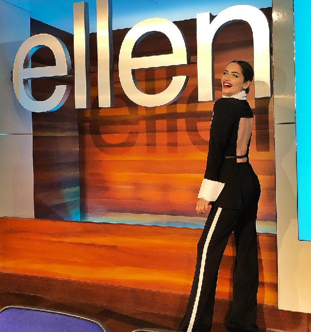 Miss World Manushi Chhillar is a boss lady during her visit to The Ellen Show