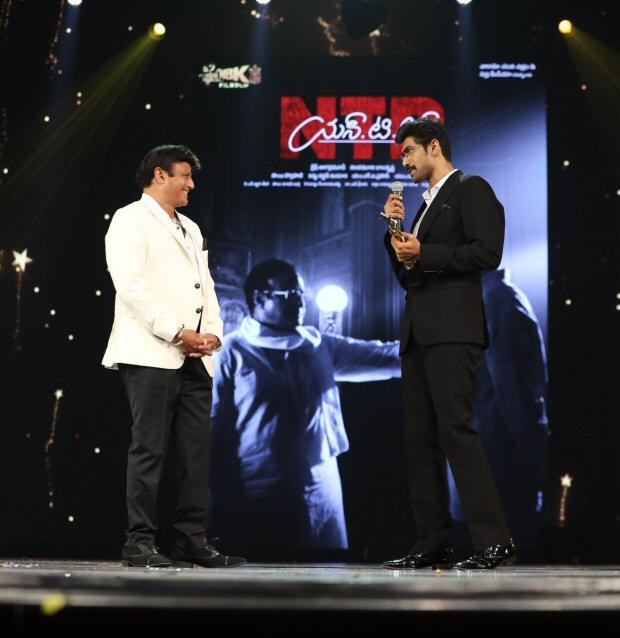 NTR Biopic SIIMA 2018 winners Rana Daggubati and Nandamuri Balakrishna give a glimpse of the film during the award ceremony