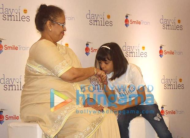 Aishwarya Rai Bachchan, Aaradhya Bachchan and mom Vrinda Rai spend the day with NGO kids on Krishna Raj Rai's birth anniversary