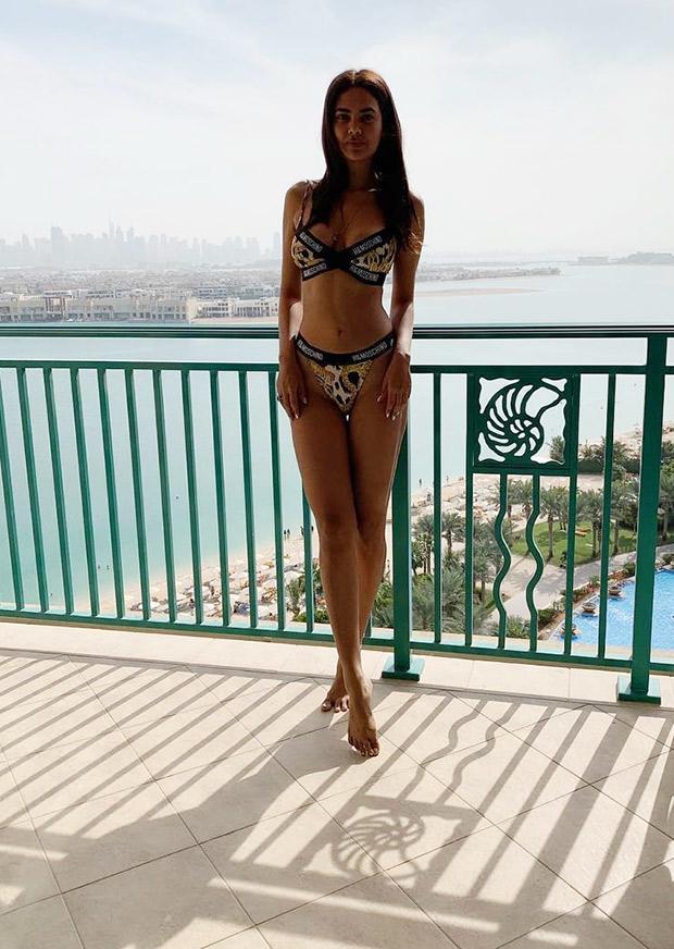 HOT DAMN! Esha Gupta unleashes her wild side in Dubai with an animal print bikini