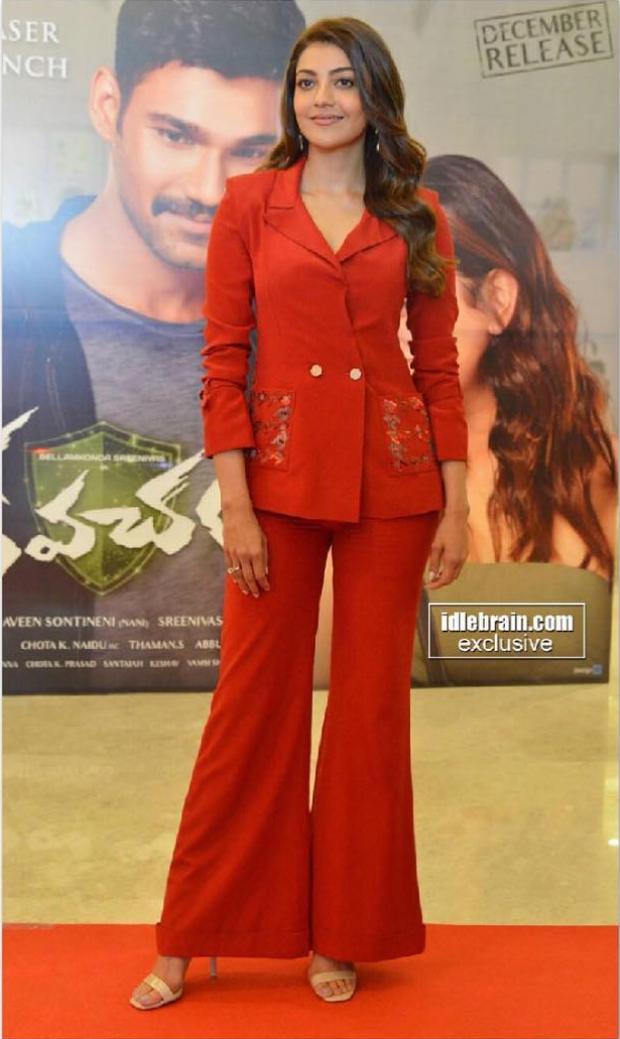 Kajal Aggarwal in Nikita Mhaisalkar for Kavacham trailer launch (1)