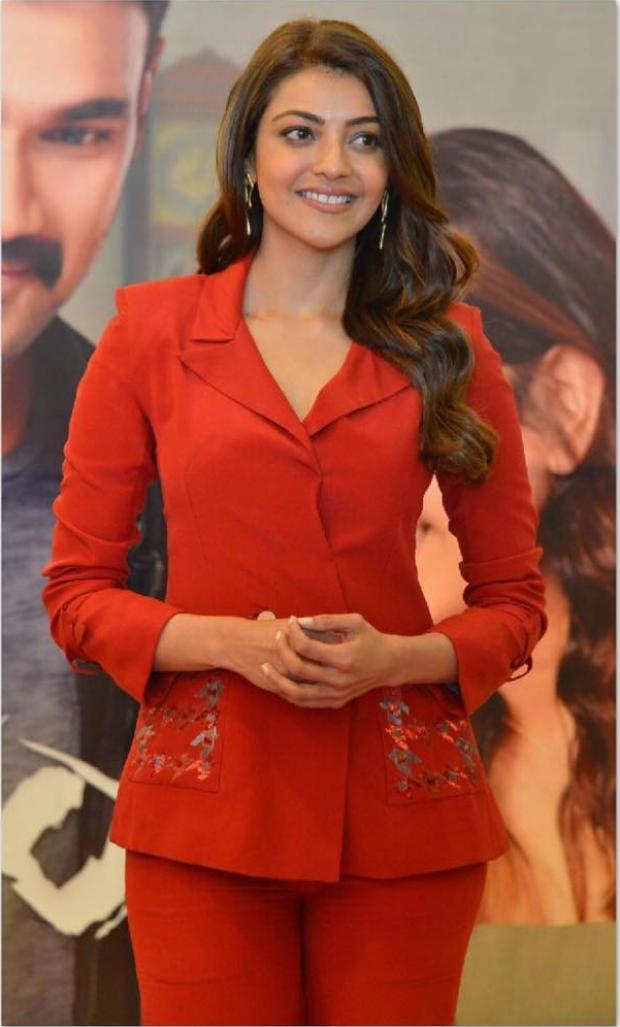 Kajal Aggarwal in Nikita Mhaisalkar for Kavacham trailer launch (2)