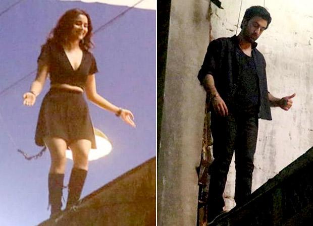 LEAKED VIDEO! Ranbir Kapoor and Alia Bhatt shoot insane stunt on a rooftop for Brahmastra