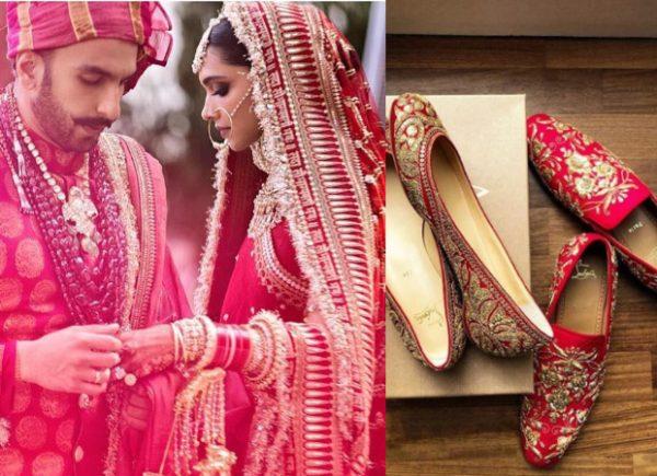 Ranveer Singh – Deepika Padukone Wedding Shoe Affair Sabyasachi x Christian Louboutin (Featured)