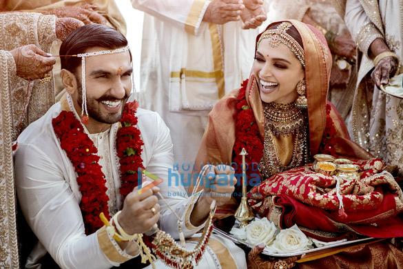 Ranveer Singh and Deepika Padukone snapped during their wedding in Italy