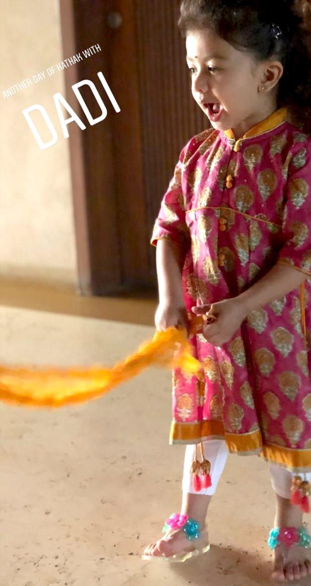 Shahid Kapoor's daughter Misha Kapoor learns kathak from grandmother Neelima Azeem