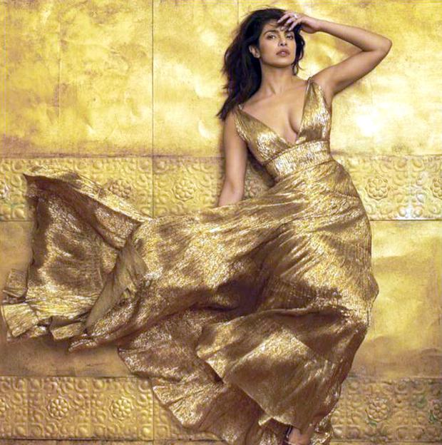 GOLDEN GIRL Priyanka Chopra gets a WOW from hubby Nick Jonas as she gears up for her Mumbai reception