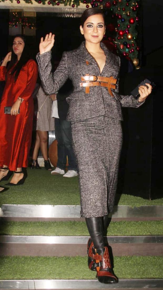 Kangana Ranaut in Tom Ford for Manikarnika bash by Neeta Lulla (1)
