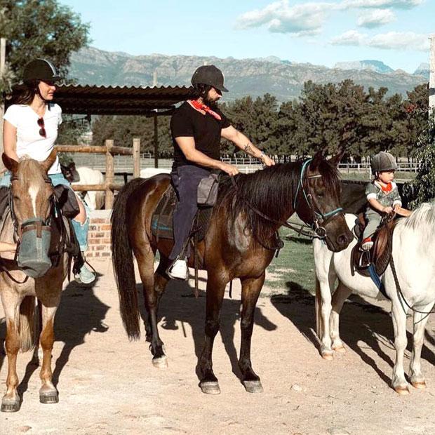 Kareena Kapoor Khan and Saif Ali Khan take little nawab Taimur Ali Khan for horse riding in Cape Town