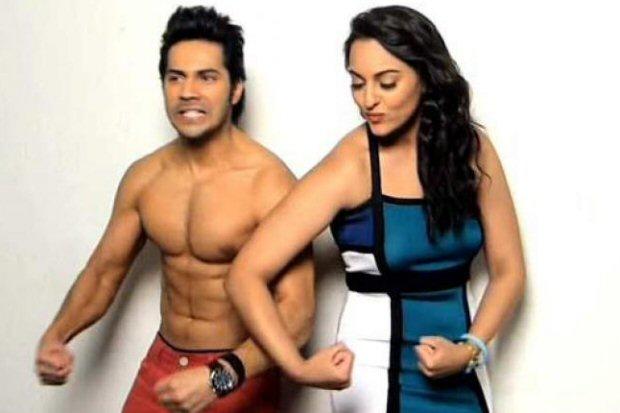 OMG! Sonakshi Sinha scolds Varun Dhawan for calling her BHABHI publicly (watch video)