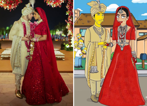 PHOTOS: Nick Jonas and Priyanka Chopra's grand wedding gets The Simpsons makeover and the actress is loving it