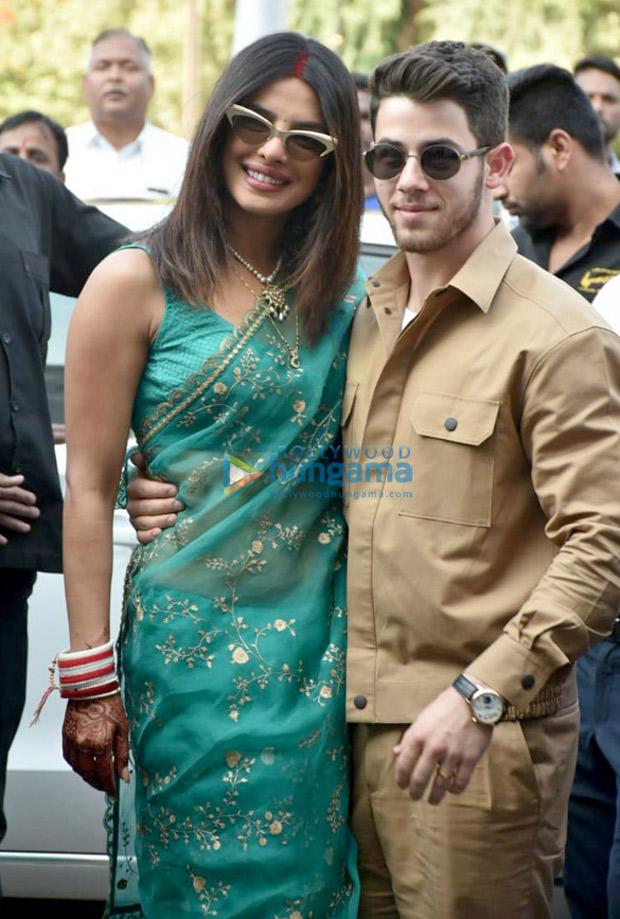 FIRST PHOTOS: Priyanka Chopra is a stunning new bride while posing with husband Nick Jonas at the Jodhpur airport