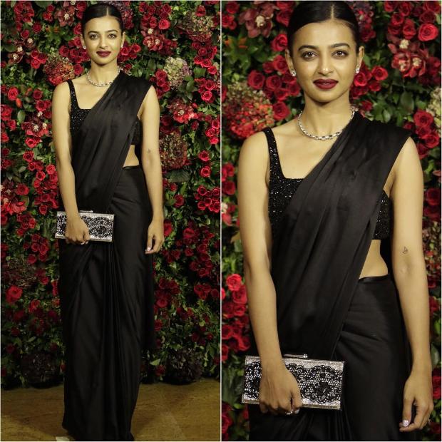 Radhika Apte at Ranveer Singh - Deepika Padukone wedding reception