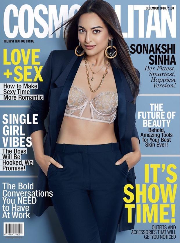 Sonakshi Sinha for Cosmopolitan India for December