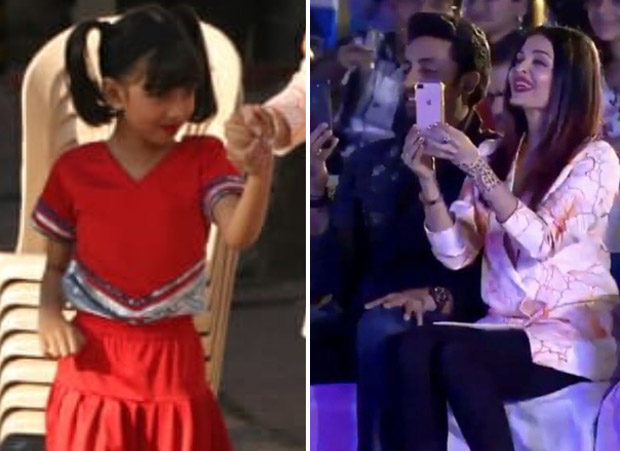 WATCH: Abhishek Bachchan and Aishwarya Rai Bachchan cheer for Aaradhya Bachchan during her performance on 'Shake It Off'
