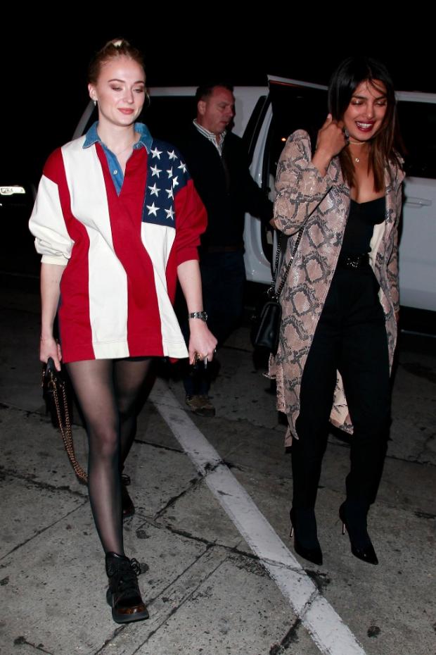 'J sisters' Priyanka Chopra and Sophie Turner make it a girls night in Los Angeles