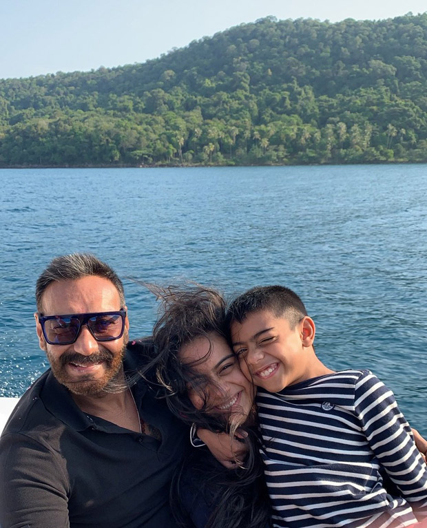Ajay Devgn looks the happiest in this throwback holiday photo with his kids Nysa and Yug