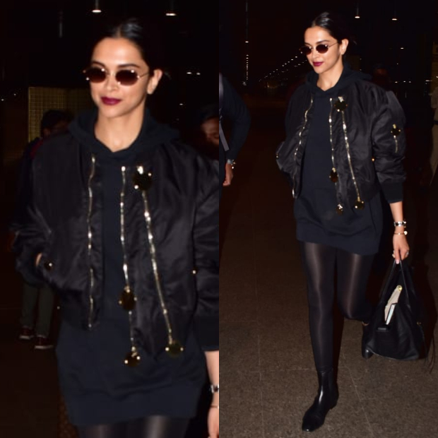Deepika Padukone in Givenchy on her way back from Paris (5)
