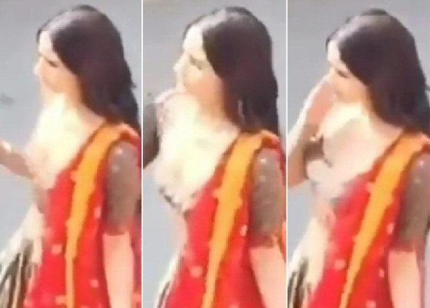 LEAKED VIDEOS! Alia Bhatt gracefully shoots a dance number in traditional attire on sets of Kalank in Gwalior