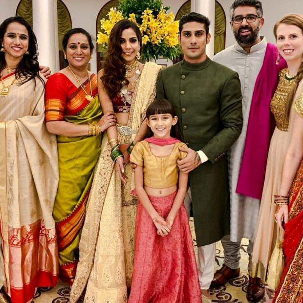 Prateik Babbar - Sanya Sagar Wedding: Raj Babbar excitedly danced at his son's wedding reception