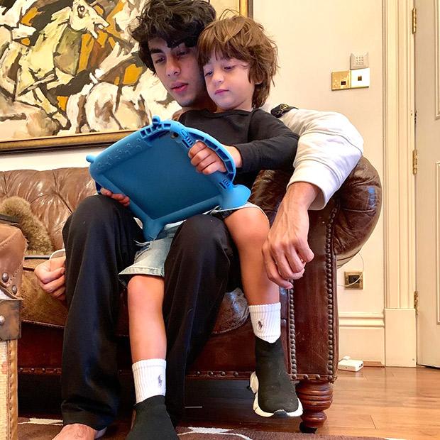 Shah Rukh Khan and Aryan Khan share cutesy moments with little one AbRam Khan