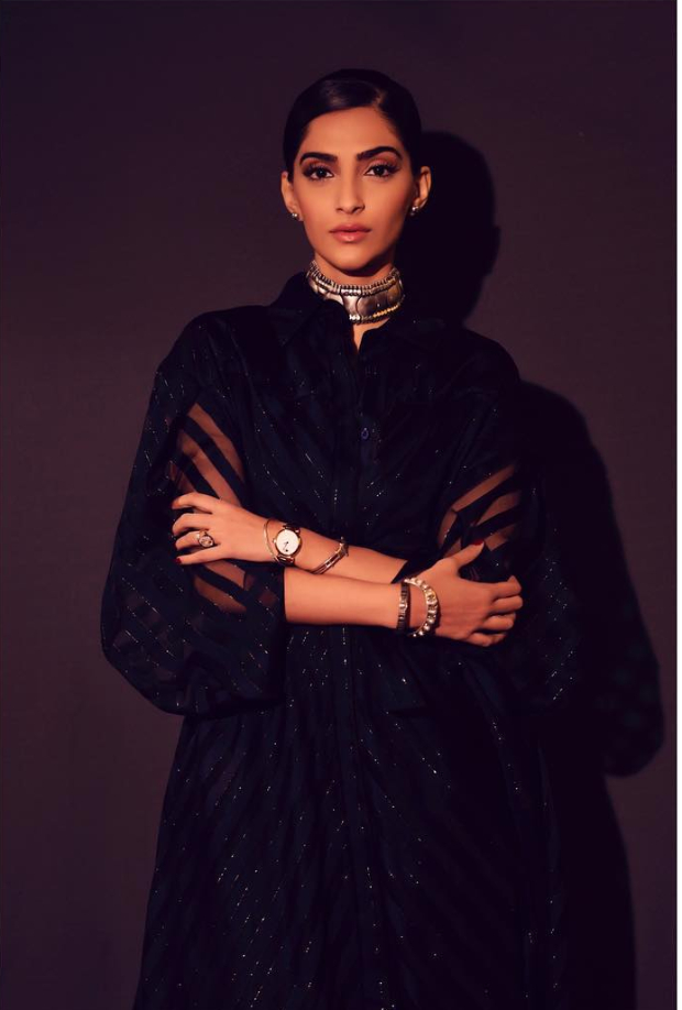 Sonam Kapoor Ahuja in Raph and Russo for IWC Schaffhausen opening dinner party in Geneva (6)