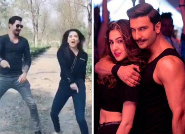 Sunny Leone recreates Ranveer Singh and Sara Ali Khan's peppy number Aankh Marey with hubby Daniel Weber and it is going VIRAL!