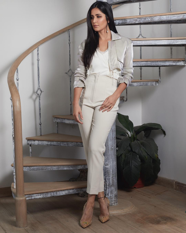 Katrina Kaif in Esse and Zara for a talk show interview (1)