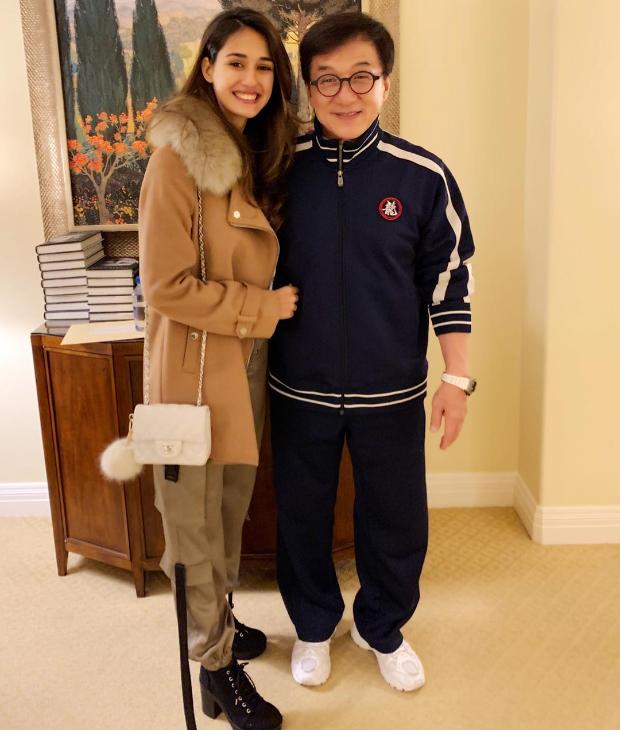THROWBACK: Disha Patani strikes a pose with Jackie Chan, Tiger Shroff calls him a 'legend'