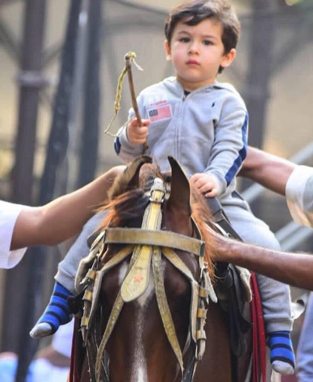 Taimur Ali Khan taking horse riding lessons is the CUTEST THING you will see on the internet today!