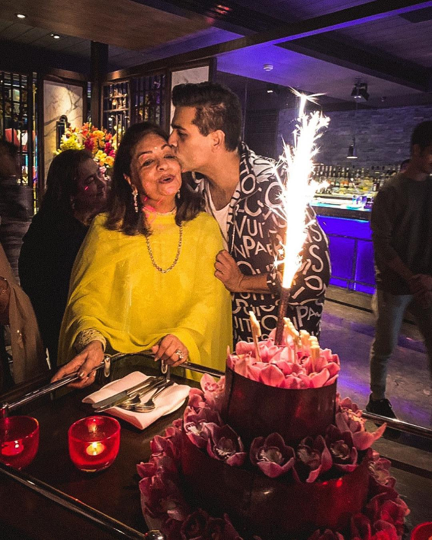Karan Johar throws a lovely birthday bash for his mom Hiroo Johar