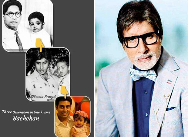 Amitabh Bachchan shares an UNMISSABLE throwback picture with Abhishek, Aaradhya and his dad
