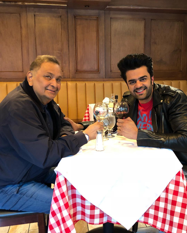 Maniesh Paul meets Rishi Kapoor in New York, reveals the actor took him for lunch