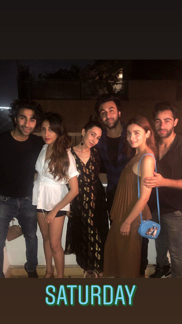 Amidst wedding rumours, Alia Bhatt parties with Ranbir Kapoor and his cousins including Karisma Kapoor [See photo]