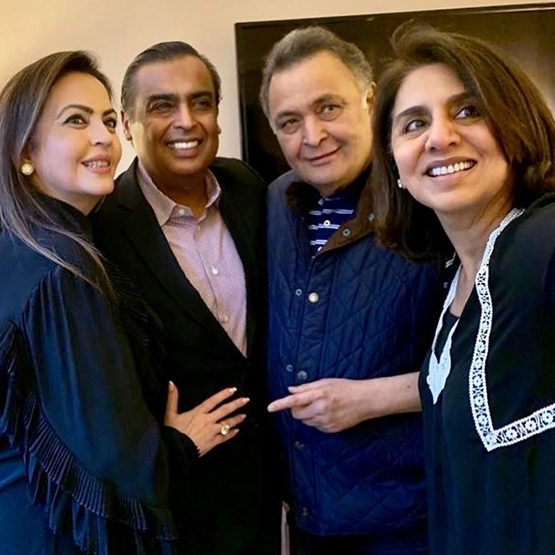 Ambanis visit Rishi Kapoor and Neetu Kapoor in the U.S.