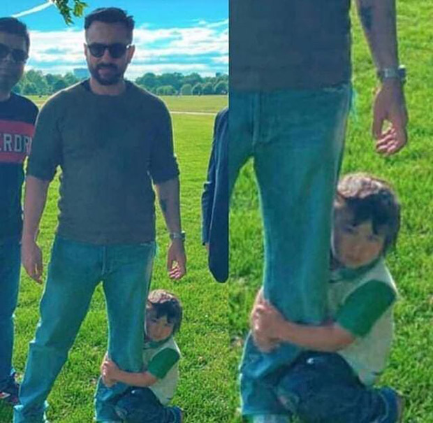 CUTE! Taimur Ali Khan clings to dad Saif Ali Khan's leg and it is absolutely ADORABLE